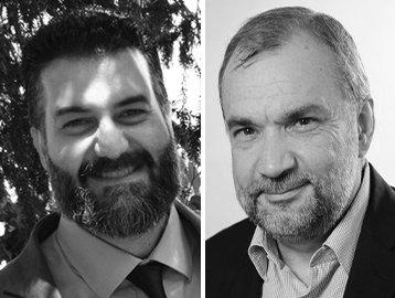 Claudio Tancini e Andrea Guzzo. Webinar Telelavoro e smart working nel non profit